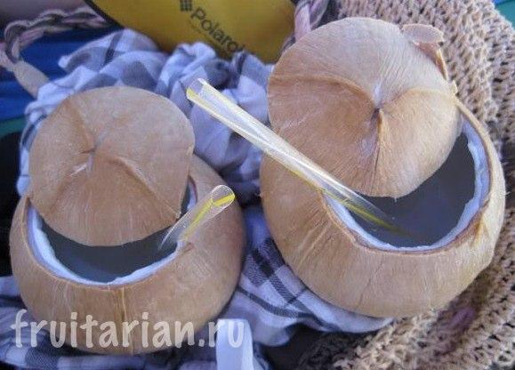 варёные кокосы