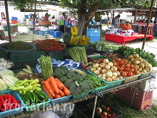 овощи на Rawai Coconut Market