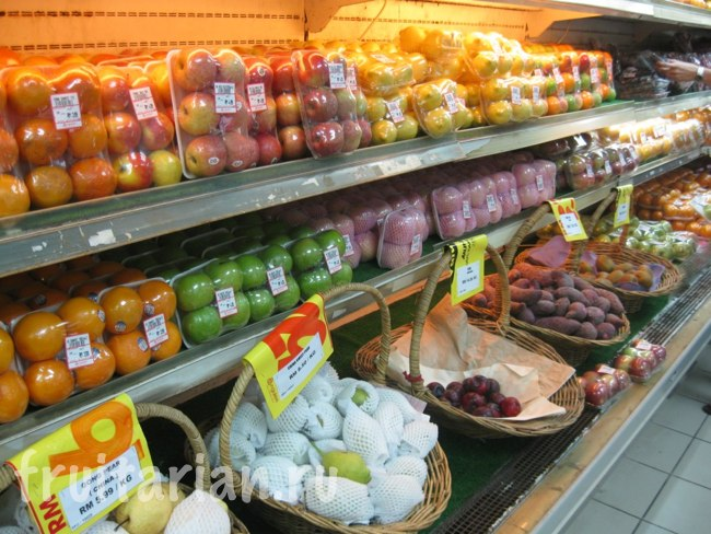 импортные фрукты в Малайзии