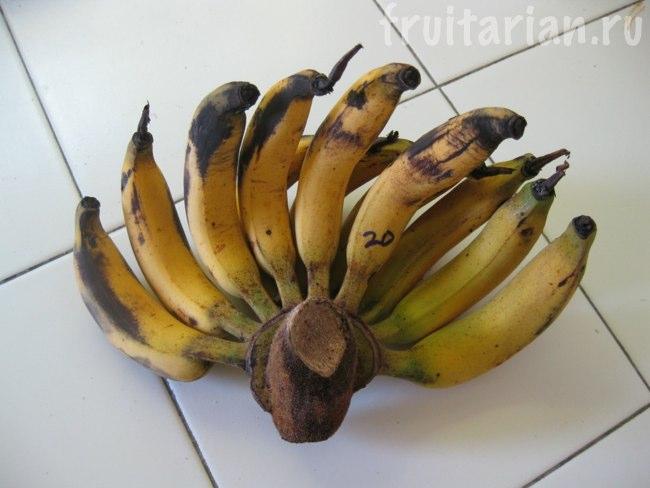 Длинные тонкие бананы
