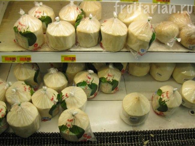 тайские обтёсанные кокосы