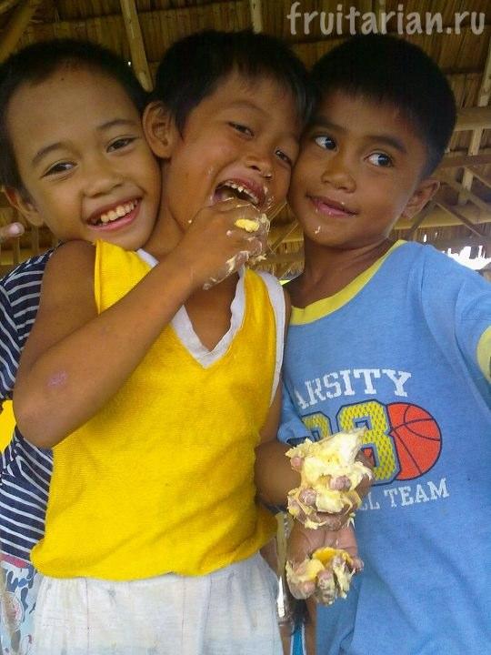 дети и дуриан