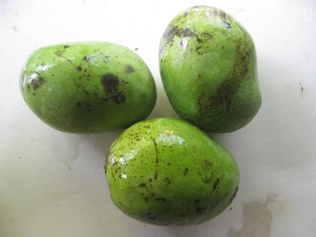 зеленые манго