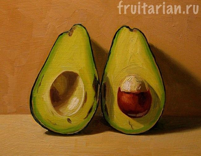 рисунок авокадо