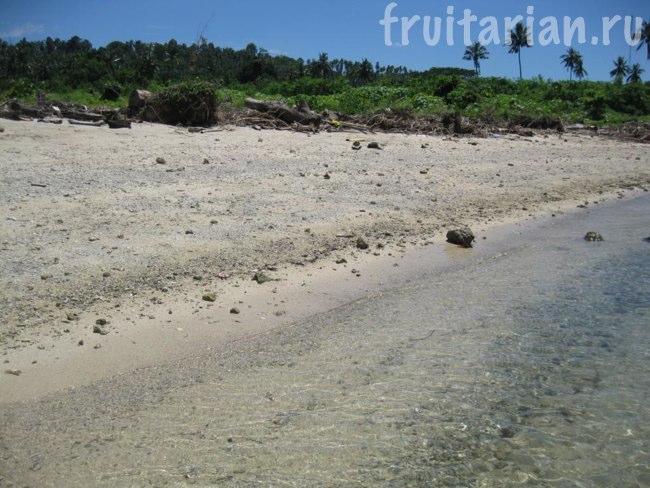 пляж на острове Самал