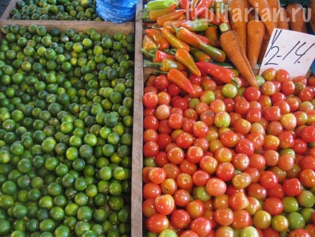 помидоры и лаймы