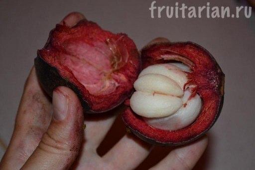 как едят мангостин