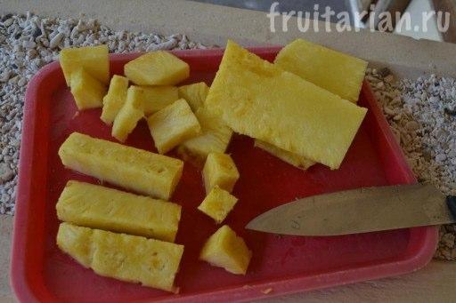 как резать ананас