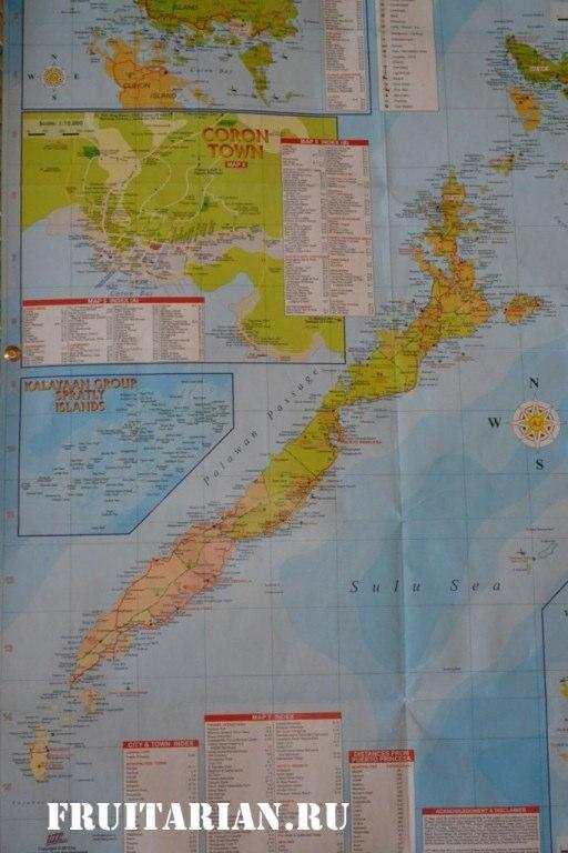 карта Палавана