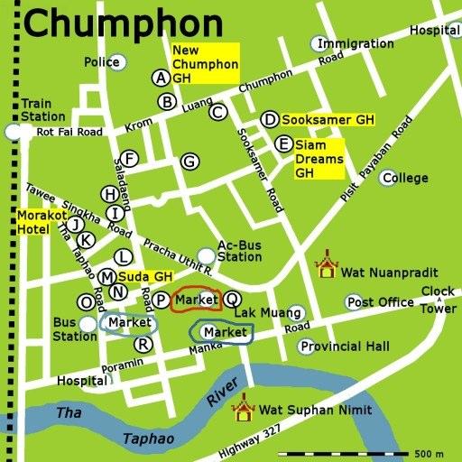chumphon-map-markets